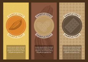 Etichette di cacao e cioccolato vettore