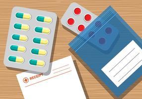Vettore della ricevuta della medicina delle pillbox