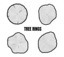set di anelli degli alberi vettore