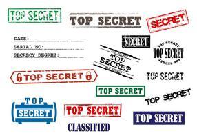 Timbro top secret vettoriale