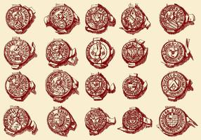 Sigilli di francobolli vettore