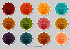 Set di badge vettoriali Kalash
