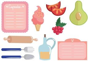 Vettori di carte di ricette gratis
