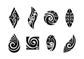 vettore di maori koru