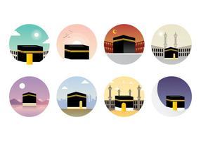 vettore di makkah kaaba