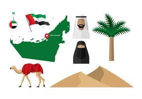 Emirati Arabi Uniti Mappa vettoriale