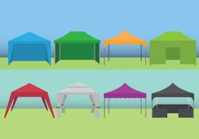 Set di tende per eventi vettore