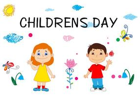 Concetto di Happy Childrens Day vettore