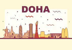 skyline di vettore di doha