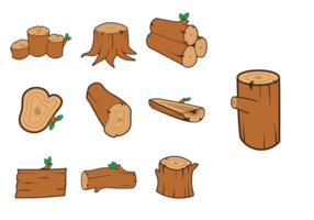 Pacchetto di log del legno vettore