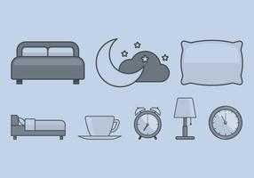 Icona del tempo di letto