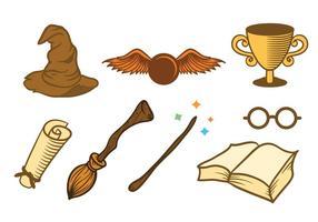 Set di elementi wizard a tre quarti di giro