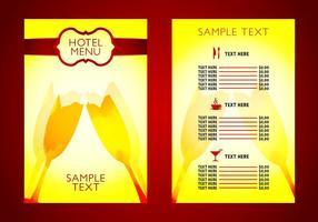 Vettore professionale del modello del menu dell'hotel