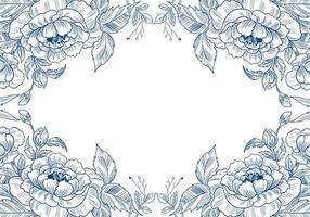 bella cornice floreale schizzo decorativo vettore