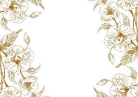 bordi floreali di schizzo vintage artistico vettore