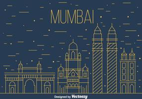 Vettore dell'orizzonte di Mumbai