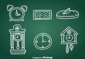 Vettore disegnato a mano collezione orologio