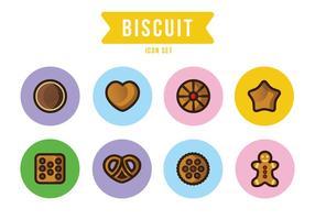 Icone di biscotti vettore