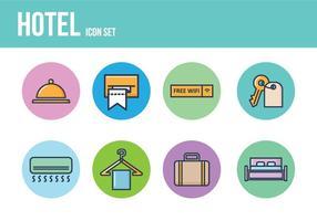 Icone Hotel gratis vettore