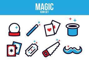 Set di icone magiche gratis vettore