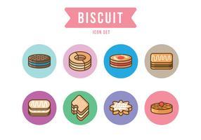 Set di icone del biscotto vettore
