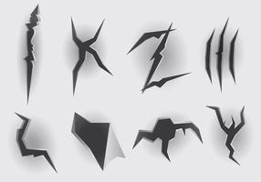 Metal Tear Icons Vector gratuito