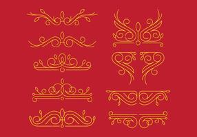 Ornamenti vittoriani vettore