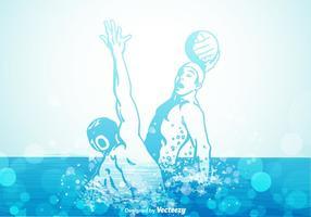 Illustrazione vettoriale di pallanuoto