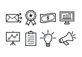 Icone di marketing gratis vettore