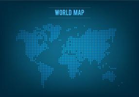 Mappa del mondo mosaico vettoriale gratis