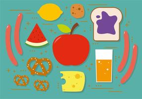 Illustrazione vettoriale di snack