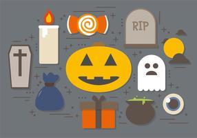Raccolta gratuita di simboli di Halloween vettore