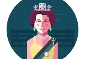 Giovane Regina Elisabetta vettore