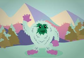 Illustrazione di Yeti gratis vettore