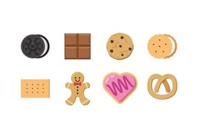 Vettore di cioccolato e biscotti