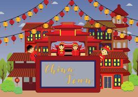 Illustrazione gratuita di China Town vettore