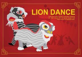 Illustrazione di danza del leone gratis