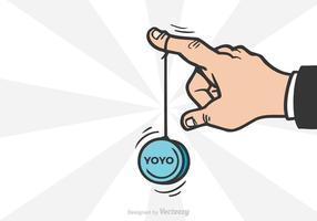 Illustrazione vettoriale di Yoyo mano libera