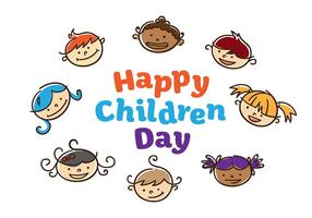 Vettore di giorno dei bambini