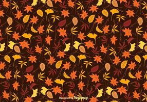 Priorità bassa di vettore di foglie colorate