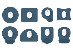 Mouse pad icone vettoriali gratis