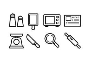 Icone di cottura gratis vettore
