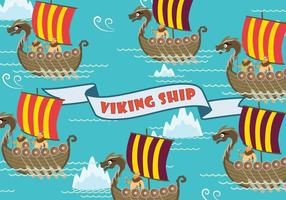 Illustrazione gratuita di nave vichinga vettore