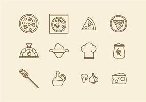 Icona della pizza italiana vettore