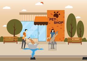 Illustrazione libera della lavata del cane