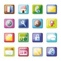 icone moderne di app mobile vettore