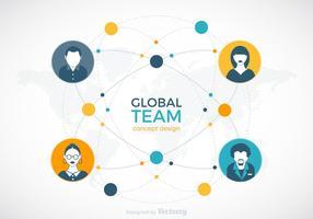 disegno vettoriale di squadra globale