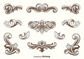 vector elementi di design di acanto