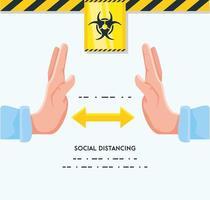 infografica per mantenere le distanze dalle persone vettore