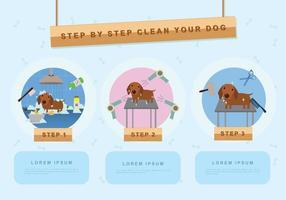 Illustrazione di lavaggio del cane vettore